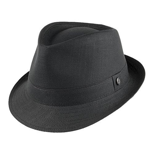 Jaxon & James Trilby Hut aus Baumwolle - Schwarz - (Ganster Hut)