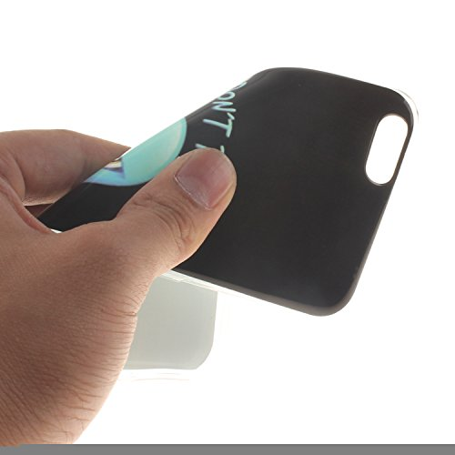 Ooboom® iPhone 5SE Hülle TPU Silikon Gel Ultra Dünn Schutzhülle Handy Tasche Case Cover für iPhone 5SE - Löwe Schwarz Zorn