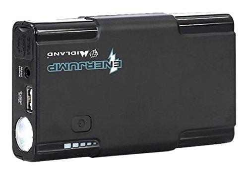 Midland Enerjump Potente Avviatore di Emergenza Batteria Auto, Moto e Scooter, Jump Starter Portatile di Riserva Battery Energy Pack Power Bank che Ricarica Anche Tablet, Smartphone e alt
