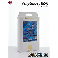 Box #myboost PRIMARINA GX SM39 10 english pokemon trading cards XY including : - the card PRIMARINA GX SM39 250HP of the series Sun and Moon - 1 holographic card or Reverse - 1 card 100HP - 1 card 90HP - 1 card 80HP my-booster, the PREMIUM offer Pokemon
