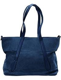 BMC Womens Canvas Material Crossbody Strap Large Double Top Handle Tote Handbag