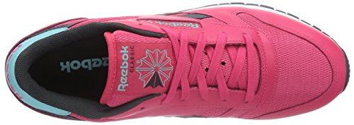 Reebok Classic Leather Suede Seasonal Ii, Chaussons Sneaker Femme Rose (blazing Pink/gravel/crystal Blue/white)