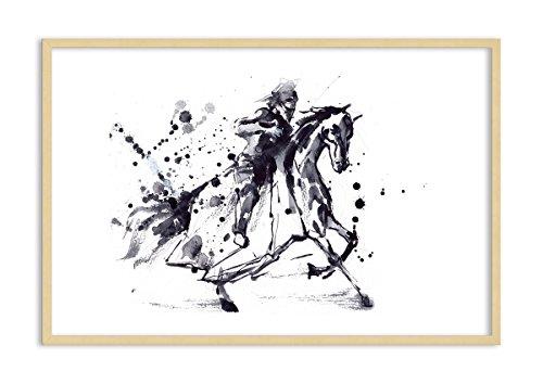 Bild im naturfarbenen Holzrahmen - Bild im Rahmen - Bild auf Leinwand - Leinwandbilder - Breite: 120cm, Höhe: 80cm - Bildnummer 2985 - zum Aufhängen bereit - Bilder - Kunstdruck - F1NAA120x80-2985