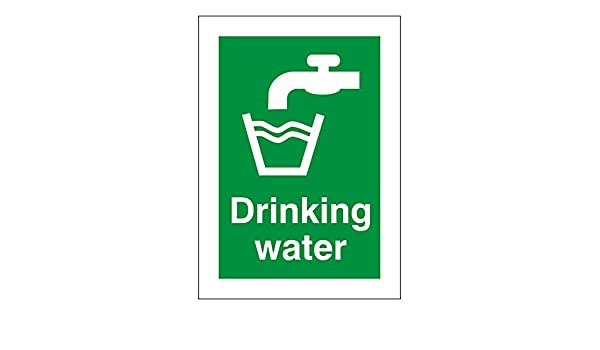 Drinking Water Sign 50mm x 70mm PVC Pack of 10
