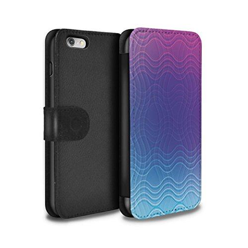 STUFF4 PU-Leder Hülle/Case/Tasche/Cover für Apple iPhone 6S / Zickzack Muster / Ombre Mode Kollektion Gewellter Effekt