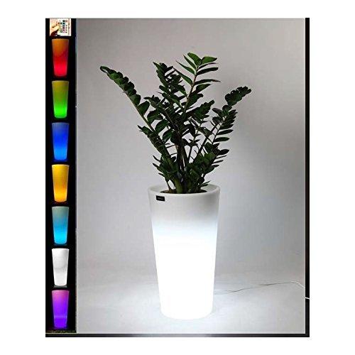 Jarrón con diseño con maceta de resina, diseño de luces indicadoras jarrones luces, diseño de maceta