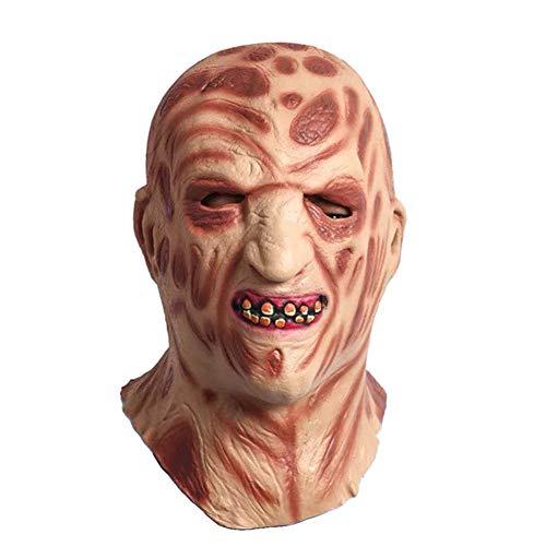 JIAAE Halloween Weihnachten Horror Maske Latex Kopfbedeckungen Feuer Brennt Monster Masken Performance Party Movie ()