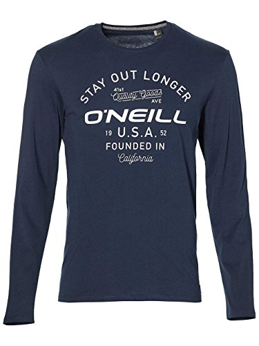 O'Neill Herren Stay Out l/SLV T-Shirt Tees, Ink Blue, S (Tee Crew Bio-l/s)