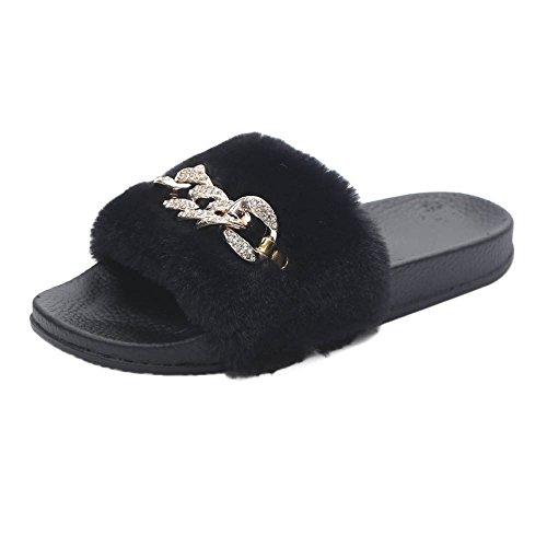 KanLin Damen Flat Slipper Flip Flop Sandale (39, (Zombie Sandalen Füße)