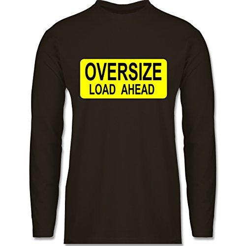 Shirtracer Trucker - Oversize Load Ahead Warnschild - Herren Langarmshirt Braun