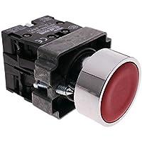 Cablematic - Pulsante momentaneo interruttore 22mm 1NO 1NC 400V 10A normalmente aperto e chiuso rosso