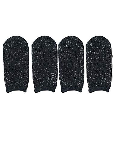 Fefaxi Schweißfeste Handschuhe für Gaming, Mobile Finger Sleeve Touchscreen-Gamecontroller (Weiß) -