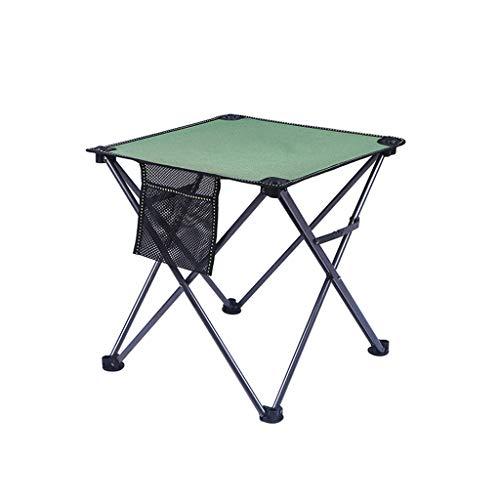 Table pliante et chaise extérieure portable léger table de pique-nique et chaise auto-conduite Tour sauvage Barbecue Table de camping (Couleur : Green)