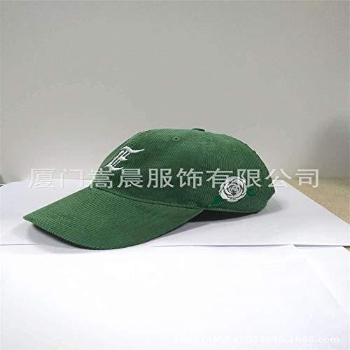 zhuzhuwen Hut Koreanische Version der männlichen Kordkappe Fashion Maler Hut im Freien Freizeit Newspaperboy Baseball Cap 1 48-56cm (Versace-baseball-cap)