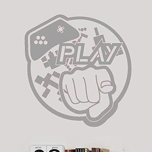 guijiumai Gamepad Autocollant De Jeu Vidéo Jeu Salle De Jeu Decal Posters Gamer Stickers Muraux en Vinyle Parede Décor Murale Jeu Vidéo Stic 4 80x85cm