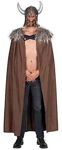 Wikinger Kostüm Krieger Erwachsene Für - Andrea-Moden Wikinger Krieger Barbar Umhang - Braun - Tolles Kostüm zu Halloween Fasching Mottoparty