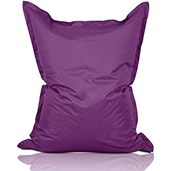lumaland luxury riesensitzsack xxl sitzsack 380l f llung 140 x 180 cm indoor outdoor lila. Black Bedroom Furniture Sets. Home Design Ideas