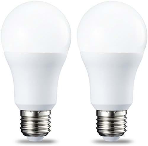 AmazonBasics Ampoule LED E27 A60 avec culot à vis, 10.5W (équivalent ampoule incandescente 75W), blanc chaud, dimmable -