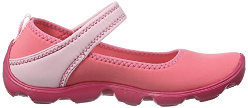 Crocs Duet Busy Day Gs, Mary Jane Fille Rouge (Coral/Ballerina Pink)