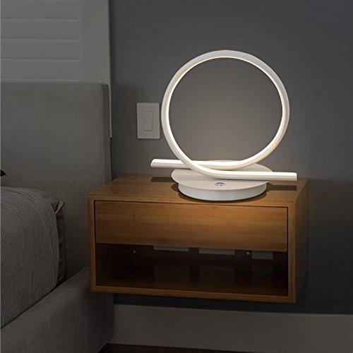SET Lampe de Table-LED Lampes personnalité Minimaliste créatif Chambre lit lumière Salon Tactile Lampe de Bureau,Kai-Ming Sha Blanc