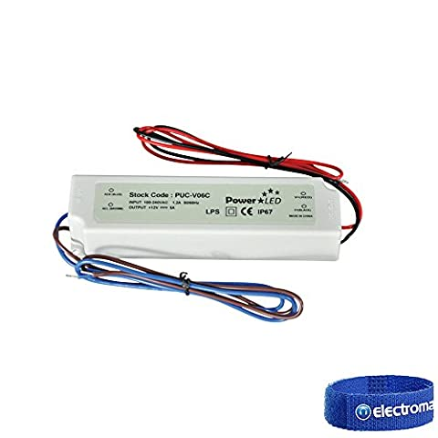 NJD NJ977C 24V 2.5A IP67 Rated Constant Voltage LED Lighting Power Supply 60W