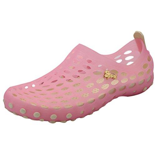 Tamancos Sapatos Praia Sandálias De De Oco Youjia Rosa Sapatos Respirável Do Verão Jardim Verão Claro Unisex pcww5Pq1