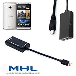 HNPTech MHL microUSB to HDMI TV-out for HTC One Smartphone Adapter for HDTV
