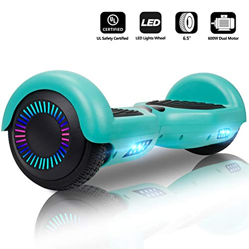 Jolege Hoverboard 6.5 Inch Smart Self Balance Electric Scooter with Colourful LED Lights for Children UL 2272 Certified Electric Skateboard 600 W Motor E-Scooter -
