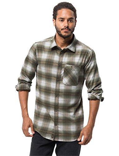 Jack Wolfskin Herren Light Valley Shirt Hemd für Reise Freizeithemd, Pinewood Checks, XXL