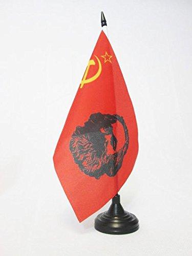 AZ FLAG TISCHFLAGGE SOWJETUNION UDSSR MIT Marx 21x14cm - Kommunismus TISCHFAHNE 14 x 21 cm - Flaggen