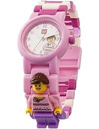 LEGO 8020820 Classic Rosa Kinder-Armbanduhr mit Minifigur und Gliederarmband zum Zusammenbauen| rosa/violett | Kunststoff | analoge Quarzuhr | Junge/ Mädchen | offiziell