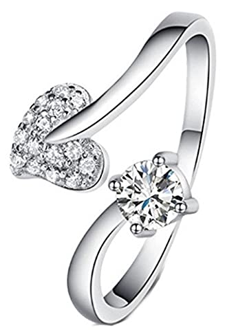 SaySure - 925 Sterling Silver Jewelry Shining CZ Crystal Finger