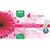 Everteen 100% Natural Cotton Top Daily Panty Liners, Unscented (36 Piece)