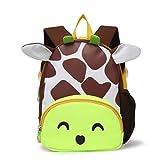 Tinksky Giraffa Cartone animato dello zaino dell'occhiatoio sveglio progettato per animali Ragazzi a forma di uccello scolastico Scatola regalo di compleanno per ragazzi Ragazze (Verde chiaro)