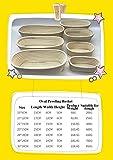 JEELINBORE Gärkörbchen, Banneton Proof Korb für Brot und Teig Kleine Gärkorb aus Peddigrohr mit Leineneinsatz (Oval Korb + Oval Liner, 21 * 15 * 8cm) Test