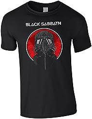T-SHIRT TEE MAN KIND BLACK SABBATH HEAVY METAL MUSIC GAS MASK NEVER SAY DIE FARBE BLACK SIZE S