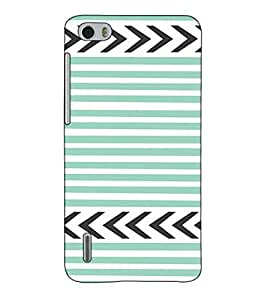 Fuson Designer Back Case Cover for Huawei Honor 6 (Grey Pattern theme)