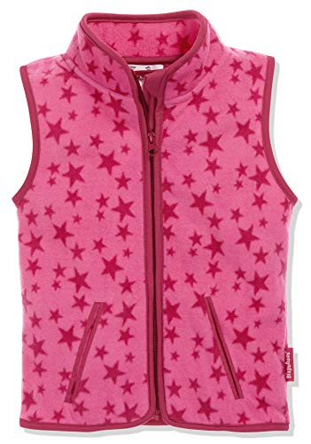 Playshoes Kinder Fleeceweste Allover Sterne Weste, Pink, 140