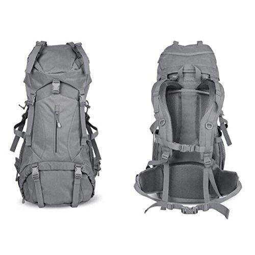 Zaino militare Alta capacità Forze speciali Zaino Camuffamento Con lo zaino dello Stent Outdoor rimovibile , black ash