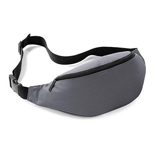 Bagbase nuovo Marsupio Cintura Borsa 8colori nero Graphite Taglia unica
