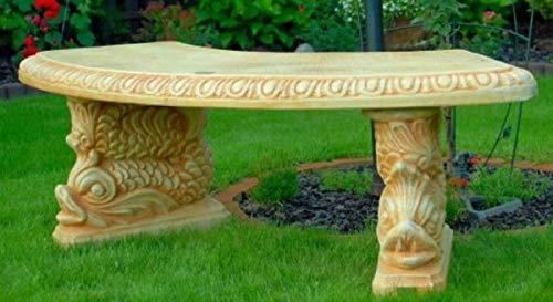 Casa Padrino Gartenbank/Parkbank Beige 138 x 45 x H. 49 cm - Gebogene Garten Sitzbank im Orientalischen Stil - Gartenmöbel
