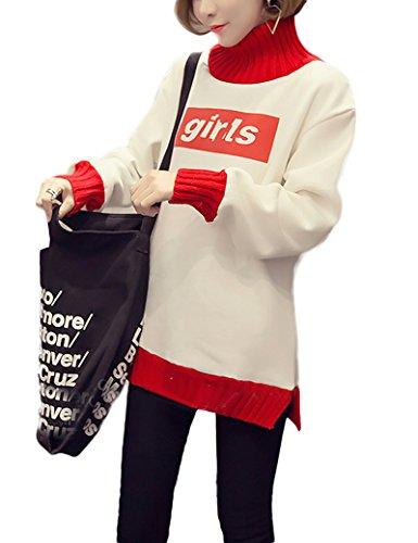 Collier de laine mosaïque féminin Fashion-pulls white
