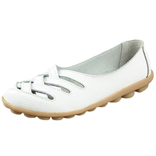 Vogstyle Mocassins Femmes Casuel Sandales Plat Taille 34-43 Blanc