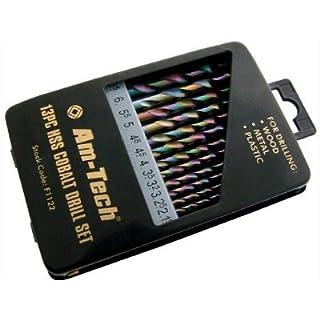 Am-Tech 13pcs HSS Cobalt Metal Drill Bit Set AMF1122