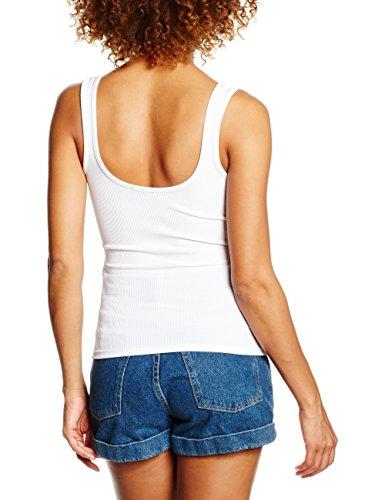 New Look Damen Top Zip Front Weiß (White)