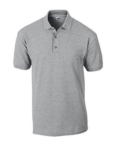 Gildan Ultra Cotton(TM) Piqué Polo, Größe:M, Farbe:Sport Grey (Heather)