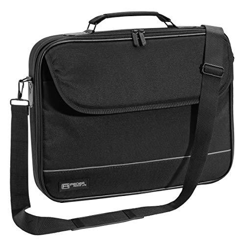 """PEDEA Laptoptasche \""""Fair\"""" Notebook-Tasche bis 17,3 Zoll (43,9 cm) Umhängetasche mit Schultergurt, Schwarz"""