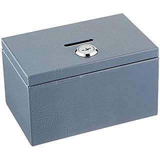 Sandusky Buddy 0505-1Produkte Stempel und Münzbox, Stahl, 8,6cm x 7,6cm x 14cm, grau