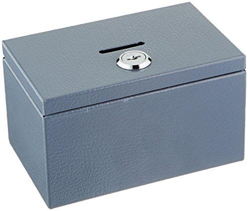 Sandusky Buddy 0505-1 Products Stamp and Coin Box, Steel, 8.6 cm x 7.6 cm x 14 cm, Grey Test