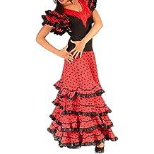 ANUKA Traje de Baile Flamenco para Mujer Mod.Gitana, (M)